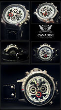 LUXURY CHRONOGRAPH TAG/DATE CAVADINI WATCH TACHYMETER SWIVELLING RING NEW DESIGN