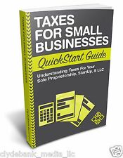 Taxes for Small Businesses QuickStart Guide PAPERBACK