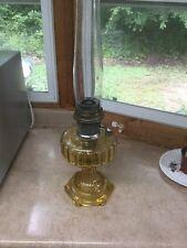 Aladdin Cathedral Amber Crystal Oil Lamp/light Model 109. B Burner 1934 Complete