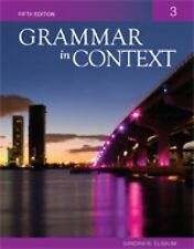 Grammar in Context Book 3 by Sandra N. Elbaum and Judi Peman (2011, Paperback)