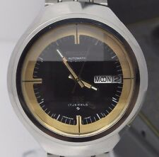 VINTAGE 1974 Seiko Moon DX Automatic Steel Mens Watch Day Date w Box NOS Unworn