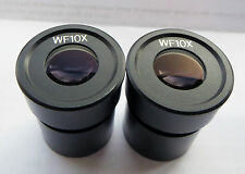 Pair of Wide Field WF10x Eyepieces for Stereo Microscope 30.5mm Fitting Diameter