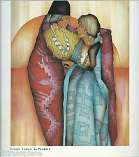 Amado M. Pena, Jr.--Native American Couple in Blankets, Southwest Art Print,