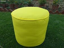 Cotton Foot Stool Ottoman COVER Pouf Round Furniture Pouffee Floor Removable