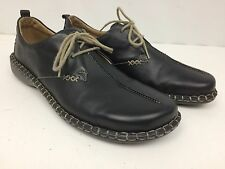 Men's Josef Seibel Black Leather Lace Up Casual Shoes Size 6 Comfortable
