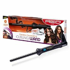 "RED BY KISS CERAMIC TOURMALINE CURLING WAND 1/2"" #CIW01"