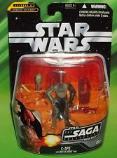 STAR WARS BLACK SAGA SERIES #017 GEONOSIS C-3PO W/ BATTLE DROID HEAD FIGURE