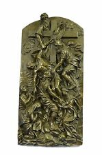 Art Nouveau Roman Jesus Decor Bas Relief Bronze Sculpture Figure Statue Figurine