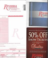 Riviera Las Vegas Hotel Casino Note Card Food Bathrobe Price Show Coupon Lot i