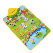 Hot Sale Musical Farm Child Playing Mat Carpet Kid Gift