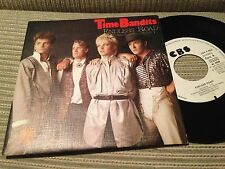 """TIME BANDITS - SPANISH 7"""" SINGLE SPAIN ONE SIDED WHITE LABEL ENDLESS ROAD 80'S"""