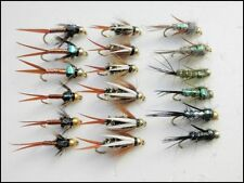 18 Goldhead Nymph,Prince,Copper John,Evil Weevils Trout Fishing Flies,Mixed Size