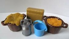 Playmobil Farm/Stables/Zoo extras: Hay, feed baskets, bucket, milk churn NEW