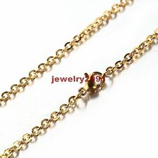 """16-30"""" Women's Silver/Gold Wholesale Stainless Steel Strong Rolo O Necklace Hot"""