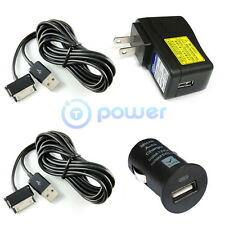 6ft long Wall USB 5V 2A Ac Adapter+Car Charger for Samsung Galaxy tab 7 8.9 10.1