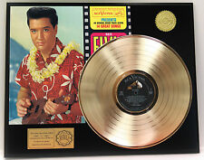 "ELVIS PRESLEY ""BLUE HAWAII"" GOLD LP LTD EDITION RARE RECORD DISPLAY"