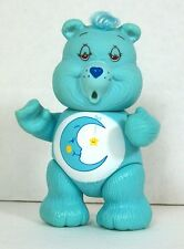 "Care Bears Bedtime Bear Plastic Posable Figure 3.25"" AGC 1983 Hong Kong"
