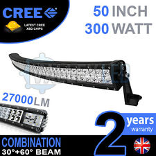 "50 "" 300W CURVO Cree Led Light Bar COMBO IP68 DRIVING LIGHT OFF ROAD 4X4 BARCA"