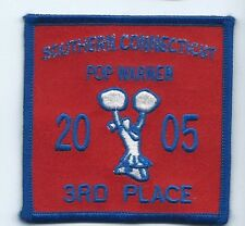 Southern Connecticut Pop Warner 2005 3rd place patch 3 X 3 #1295 cheer leading
