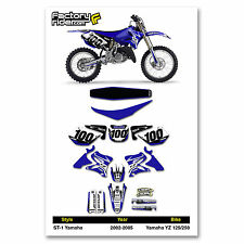 2002-2005 YAMAHA YZ 125 250 Graphics Kit  Seat Cover Motocross Graphics Enjoy