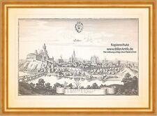 Teschen Cieszyn Schloss Spitalkirche Schlesien Polen Kupferstich Merian 0780