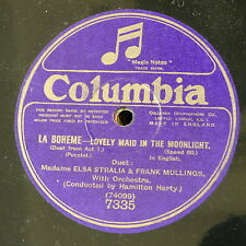 "78rpm 12"" ELSA STRALIA & FRANK MULLINGS la boheme - lovely maid in the moonlight"