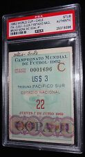 1962 WORLD CUP ITALY VS SWITZERLAND BRUNO MORA GOAL #1 MATCH #22 TICKET PSA