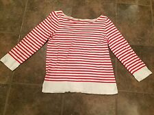 J. Crew Striped Top Women's M Red/White Nice
