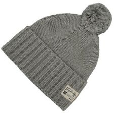SALE! Original Penguin Mens Knit Pom Pom Bobble Beanie Hat Grey Heather Small