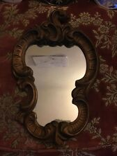French Ornate Carved Wood Mirror