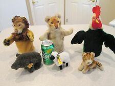 Antique Steiff puppets and stuffed animals 6 total