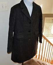 J. Crew Wool Cashmere Pea Coat Gray Ladies Sz 12