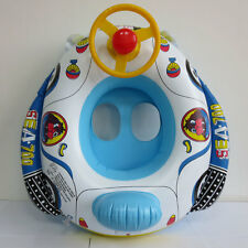 Inflatable Pool Swim Float Boat Infant Swimming Trainer With Wheel Horn