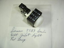 SIEMENS 3SB3 SERIES LED LAMP WHITE LENS PILOT LIGHT