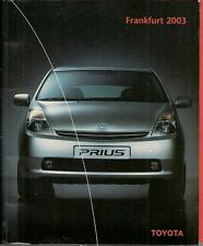 Toyota Prius Avensis RAV4 Land Crusier 2003 Frankfurt Show Press Kit In English