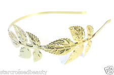 Gold great gatsby garçonne leaf headband 1920s charleston coiffe art deco L98