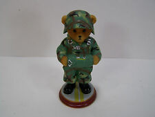 NICE HAMILTON COLLECTION FIGURINE FAITHFUL FUZZIES TEDDY ARMY JUMPSTART