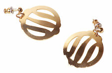 Chic & Classic Golden Circled & Intricate Gap round Droplet Earings (Zx18/76)