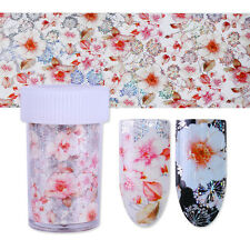 1 Roll Holo Starry Nail Foil Flower Manicure Nail Art Transfer Stencil Stickers
