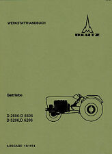 Werkstatthandbuch Deutz Traktor Getriebe TW50 D6206.