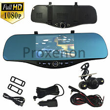NEW 1080P HD Rearview Blue Tint Mirror Front/Rear Camera Recorder #c5 Chrysler
