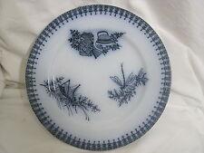 ancienne et rare assiette à décor japonnais signé et gravée en creux longwy (2)