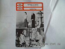 CARTE FICHE CINEMA 1953 VOYAGE A TOKYO Chishu Ryu Chieko Higashiyama Setsuko Har