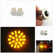 2pcs T20 1156 BA15S Amber 22-SMD LED Car Tail Lamp Turn Signal Lights Bulb 12V