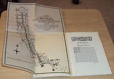 """VTG Historical Booklet~""""LIBERTY & REGENT STREET""""~London UK~MAP~Shopping~"""