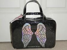 VICTORIA'S SECRET BLACK SPARKLE FASHION SHOW MAKEUP TRAIN CASE BAG NWT $48