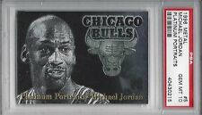 1996 Metal PLATINUM PORTRAITS Foil #5 Michael JORDAN - PSA 10+++ RARE