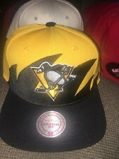 Mitchell & Ness Adult NHL Pittsburgh Penguins Shark Tooth Snapback Hat $28