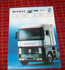 Renault ae 380.19 t tractor unit spécification 4x2 france mars 1990