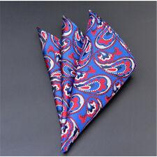 Men's Wedding Party Silk Satin Solid Floral Hanky Pocket Square Handkerchief F18